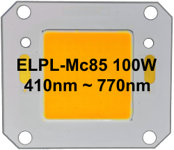 ELPL-Mc85 Low-cost 100W COB with 85% match to the McCree Curve